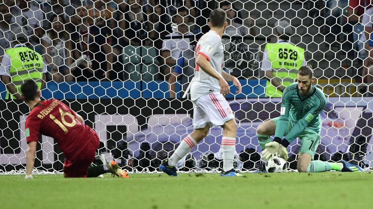 David De Gea's dreadful error capped a tough afternoon for the Spain goalkeeper as his side drew 3-3 with Portugal.