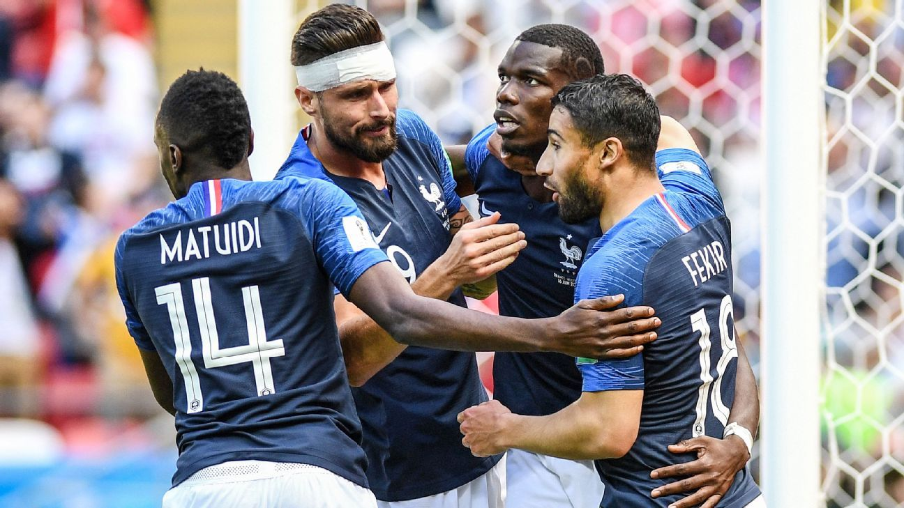 France can book their place in the second round of games.