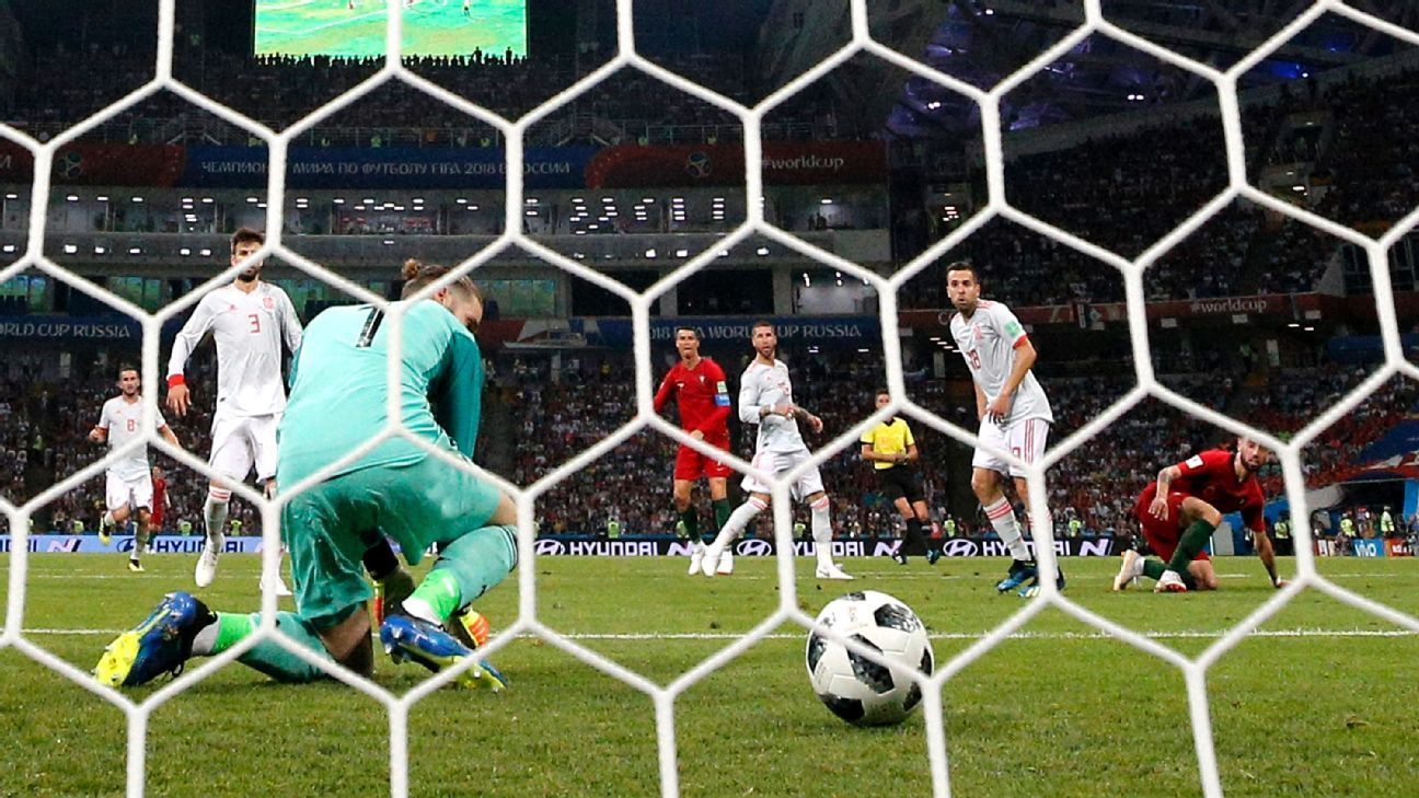 David De Gea's nightmare error gifted Cristiano Ronaldo the second of his three goals.