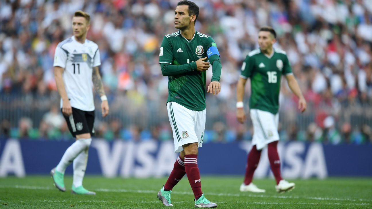 Rafael Marquez in action for Mexico against Germany.