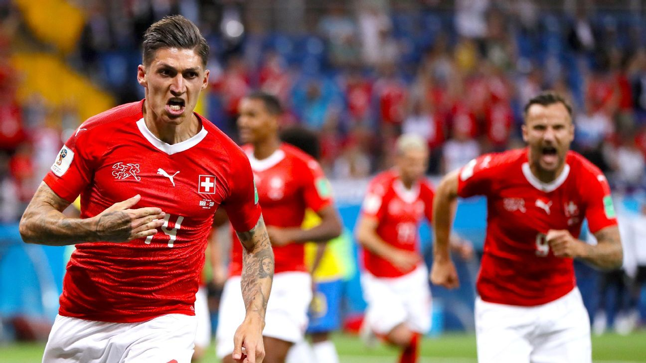 Zuber's second-half header helped Switzerland hold a sloppy Brazil side to a 1-1 draw.