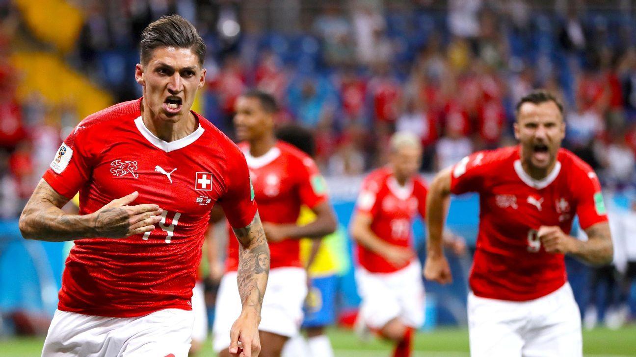 Zuber's second-half header helped Switzerland hold a sloppy Brazil side to a 1-1 draw.