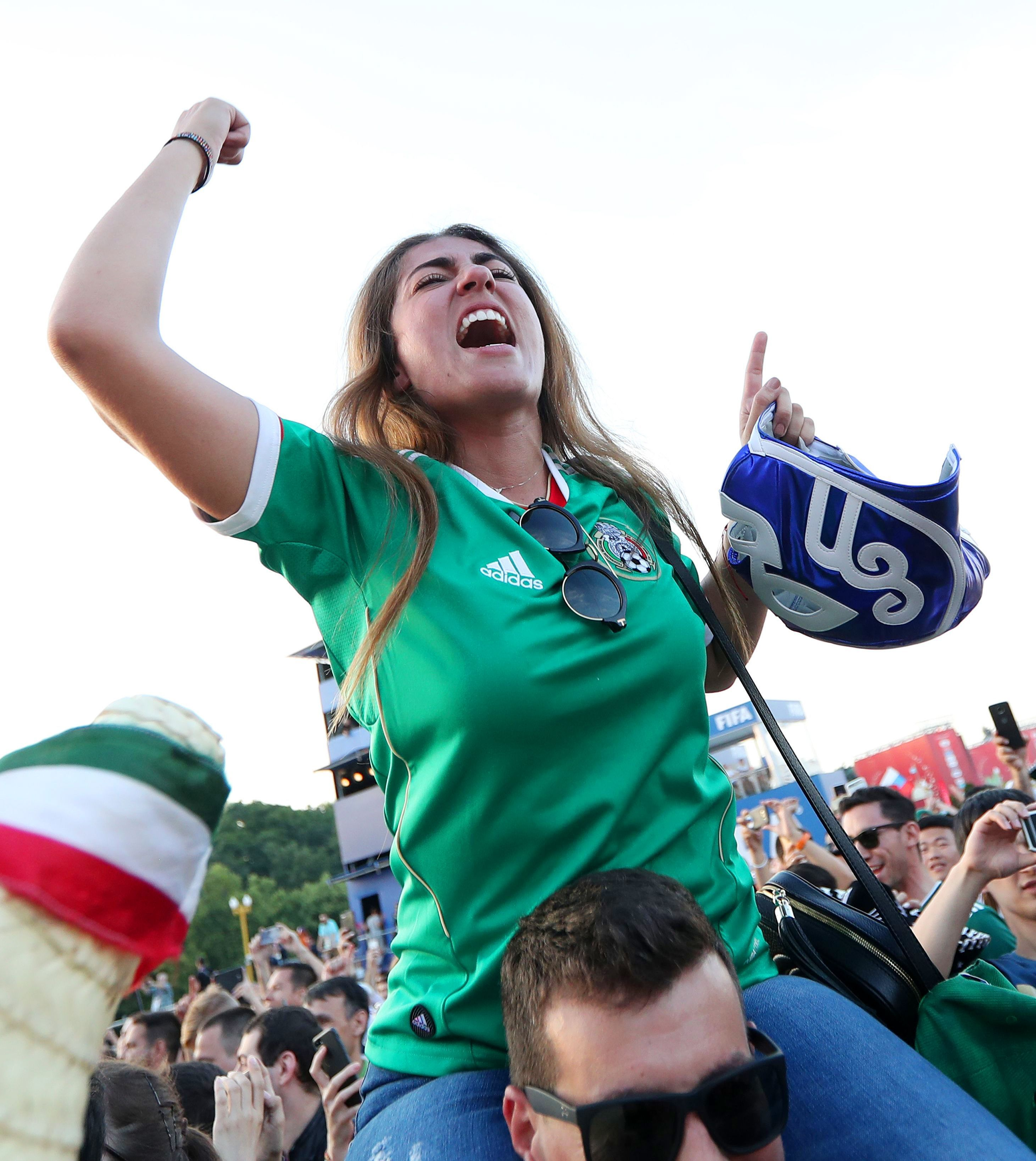 Moscow belonged to Mexico on Sunday as thousands flooded the streets.