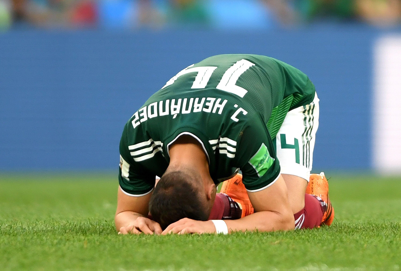 Mexico's win brought star striker Javier Hernandez to tears.