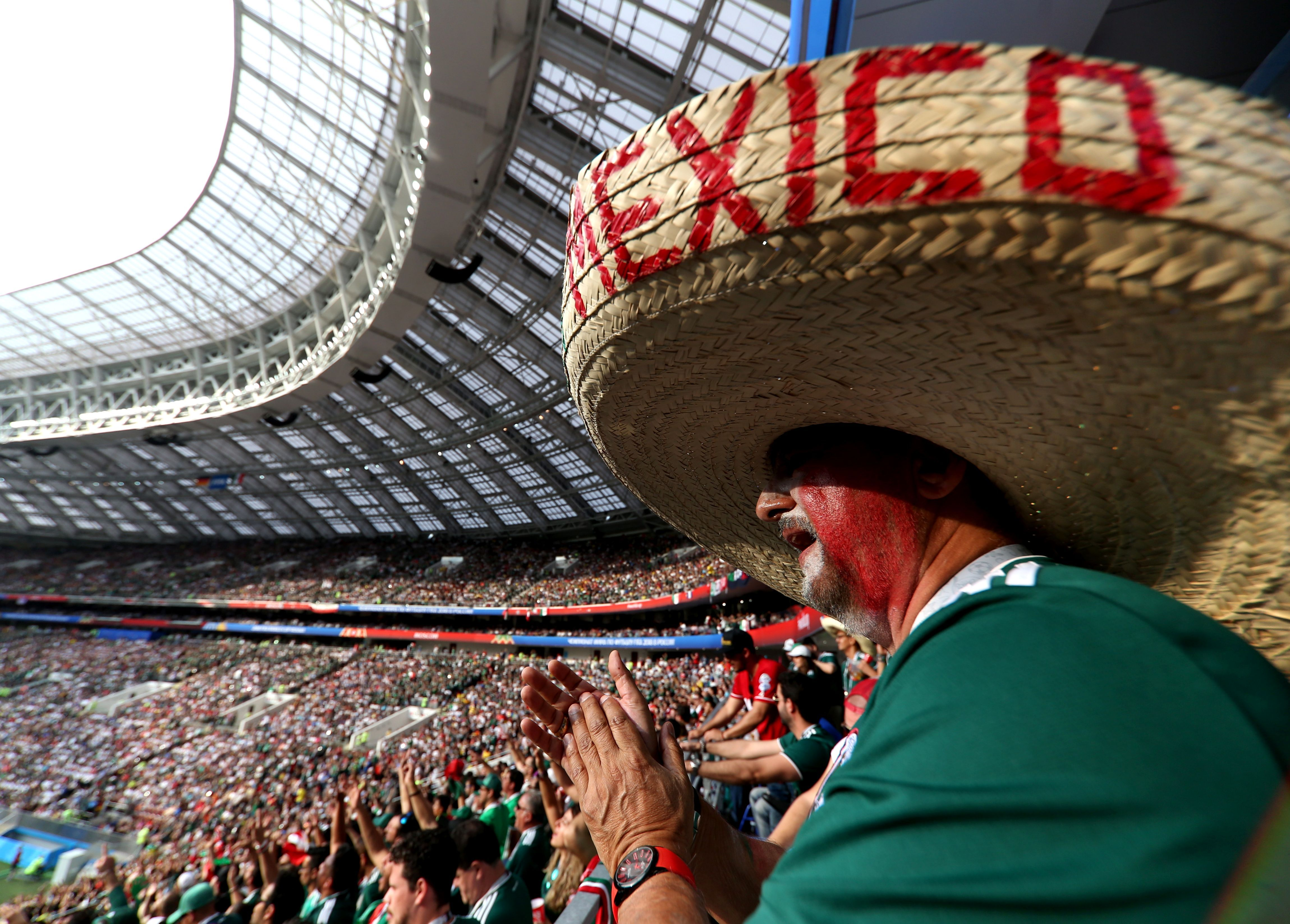 Mexico fans were loud and proud in Moscow, with nearly 30,000 attending the match.