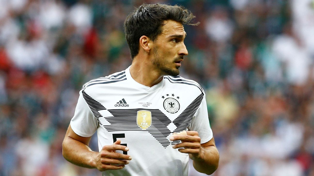 Mats Hummels during Germany's World Cup defeat against Mexico.