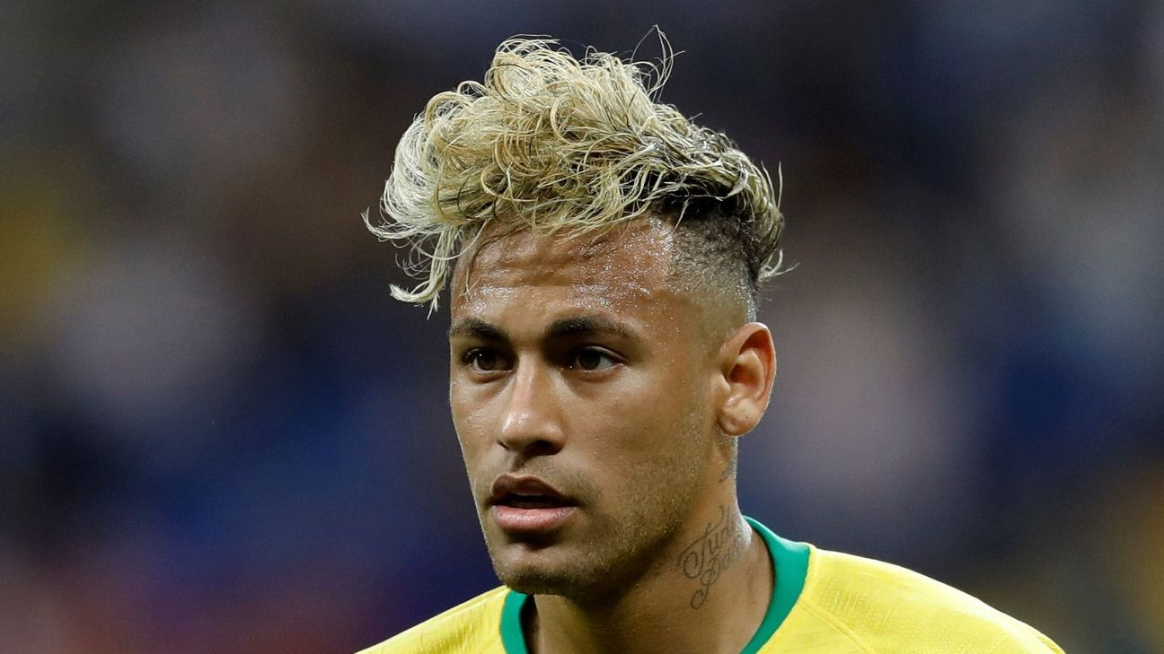 Brazil's Neymar has new World Cup hairdo compared to
