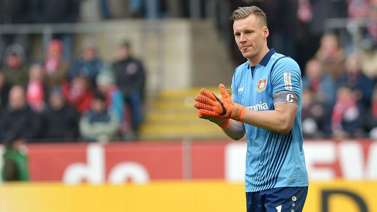 Bernd Leno has been Bayer Leverkusen's No. 1 for seven seasons.