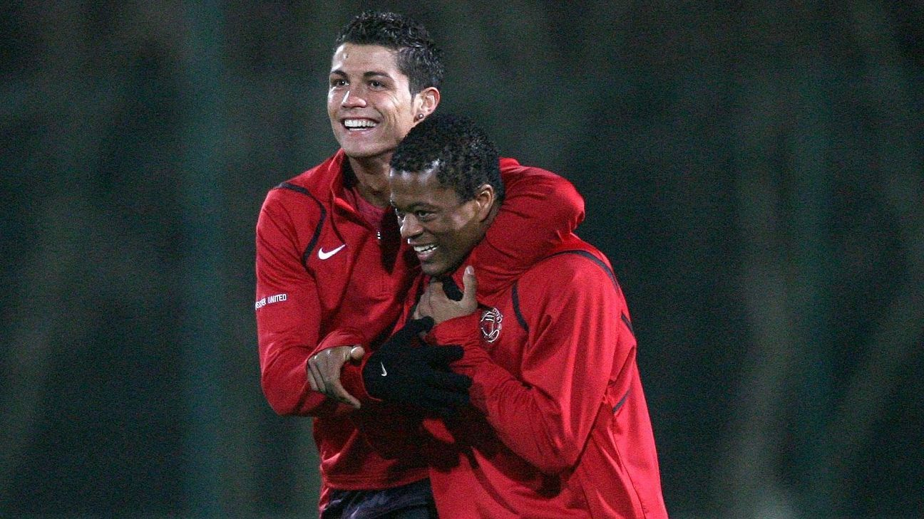 Cristiano Ronaldo and Patrice Evra spent four season together at Manchester United
