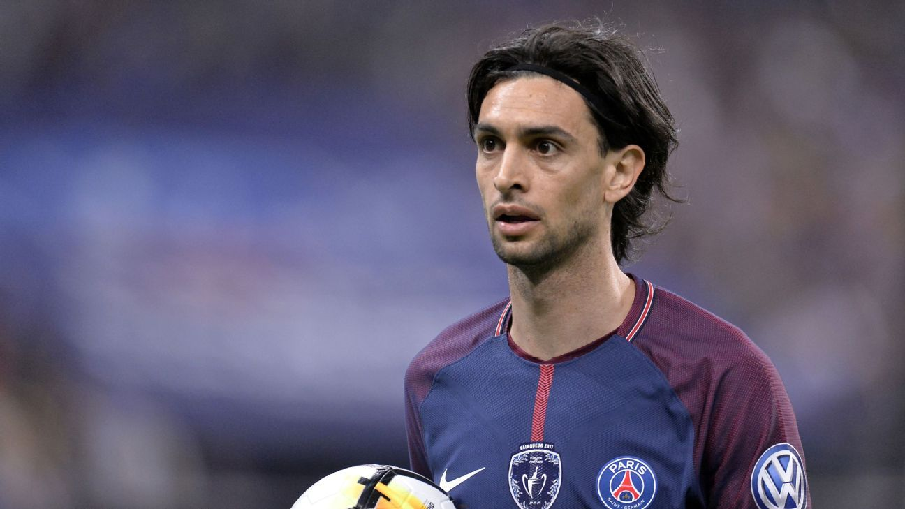 Paris Saint-Germain's Javier Pastore