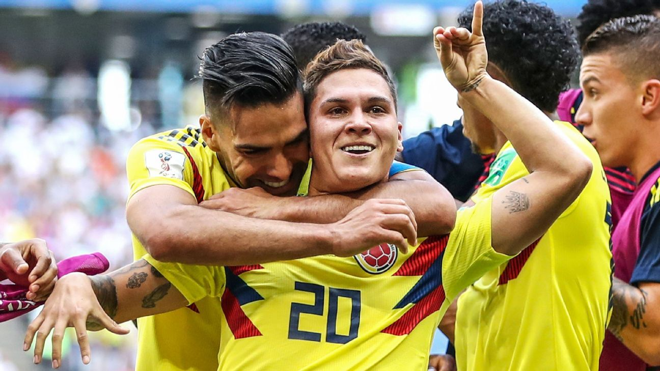 Juan Quintero equalised for Japan bit Colombia could not hang on.