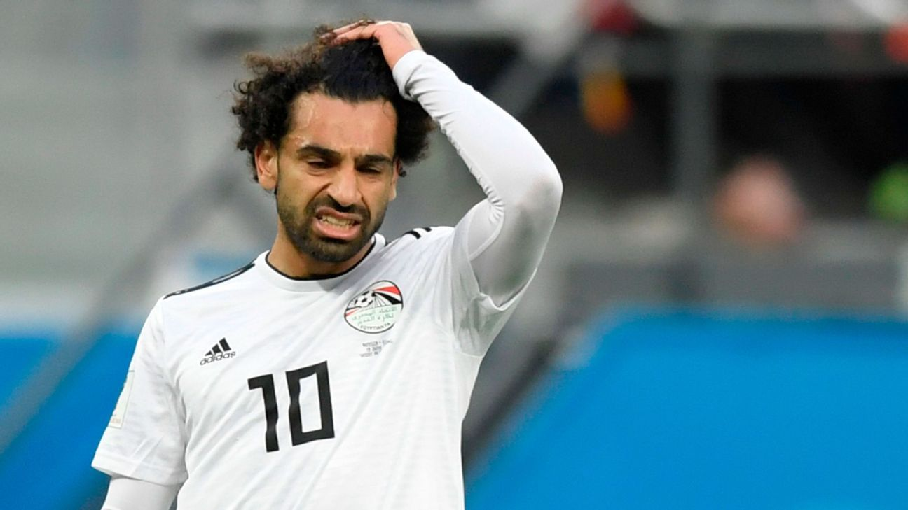 Egypt's Mohamed Salah was unable to prevent Russia's victory despite scoring a goal.