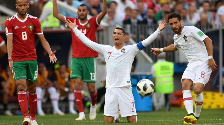 Cristiano Ronaldo has already scored four goals at the World Cup.