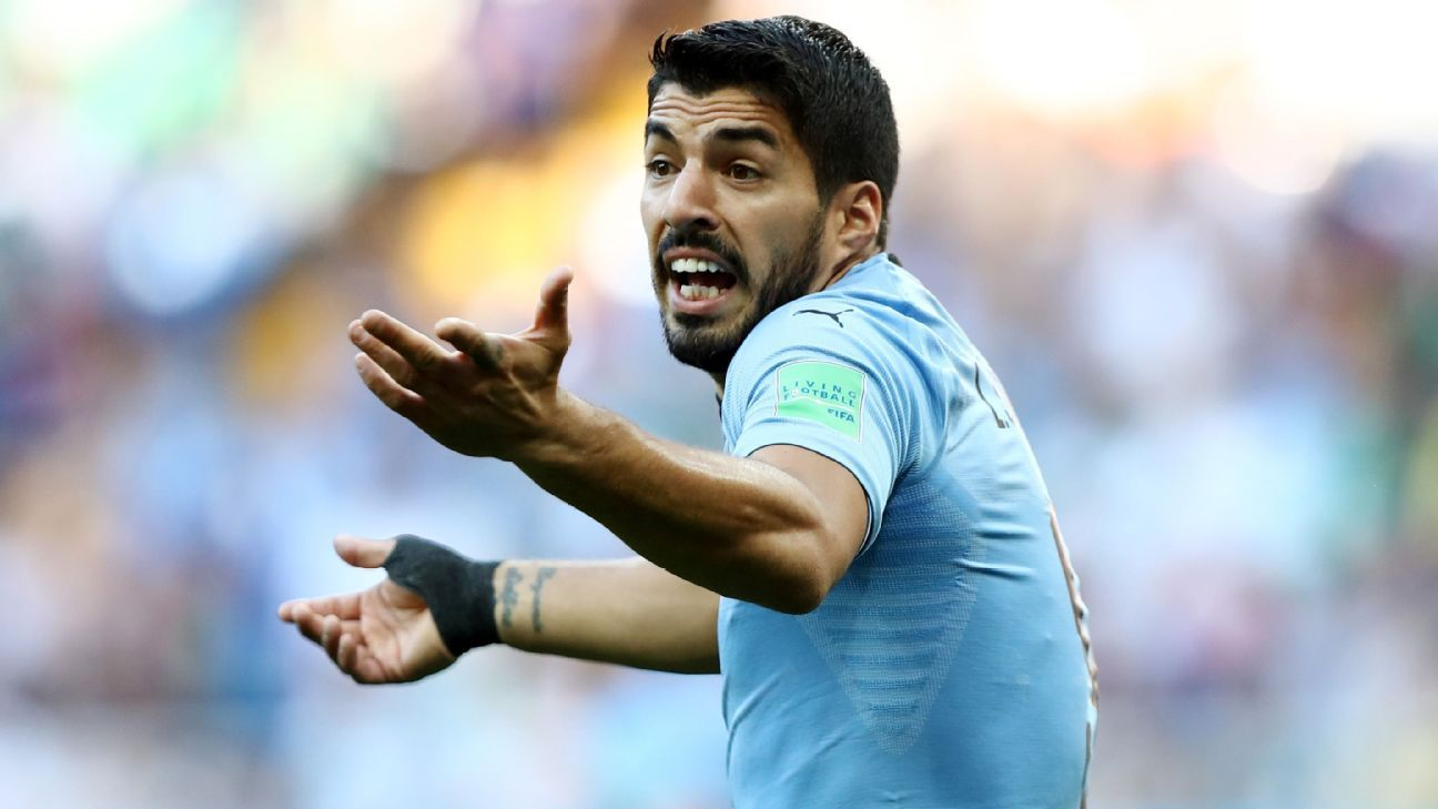 Luis Suarez struck for Uruguay in their victory against Saudi Arabia in Rostov.