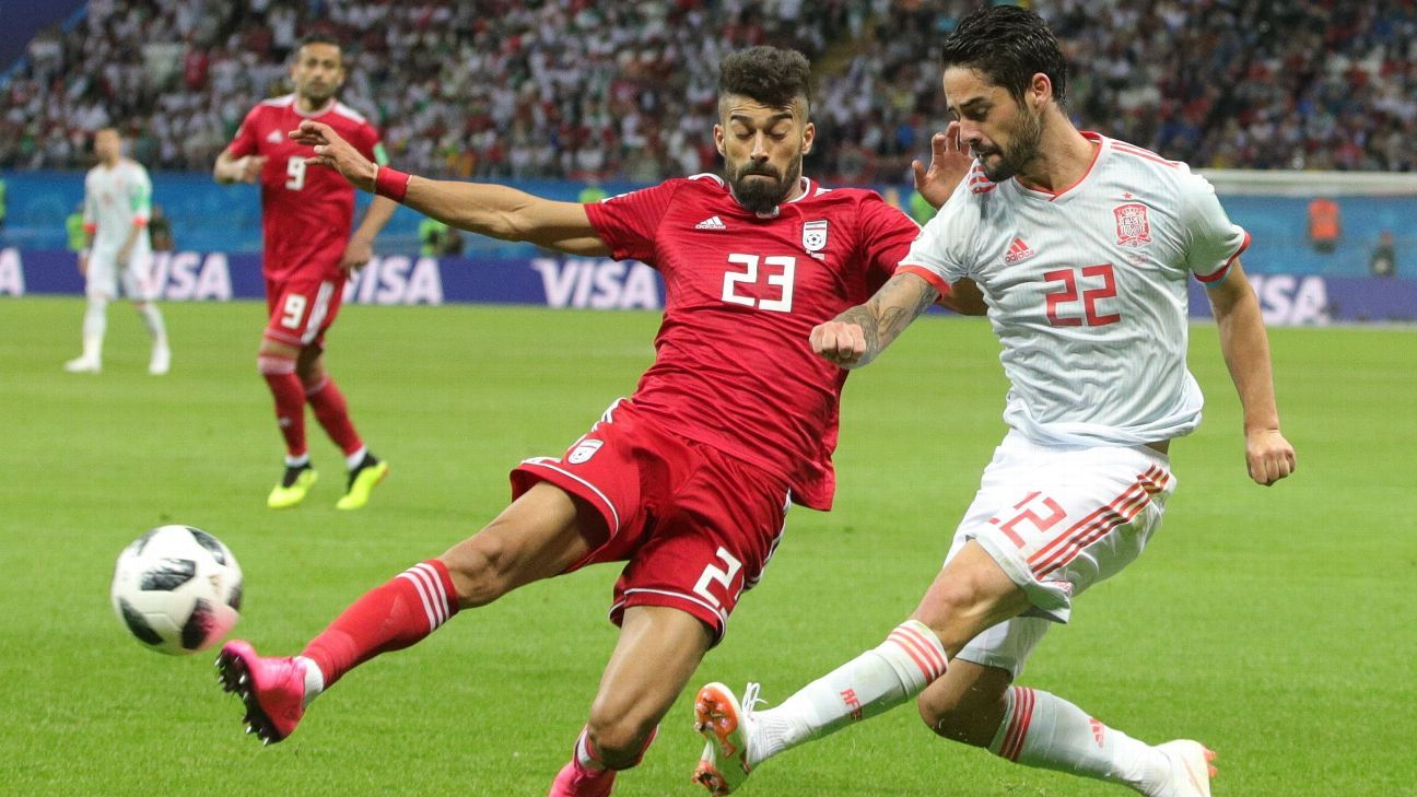 Isco was at the heart of Spain's brightest attacking moves though it took a lucky goal to defeat Iran.