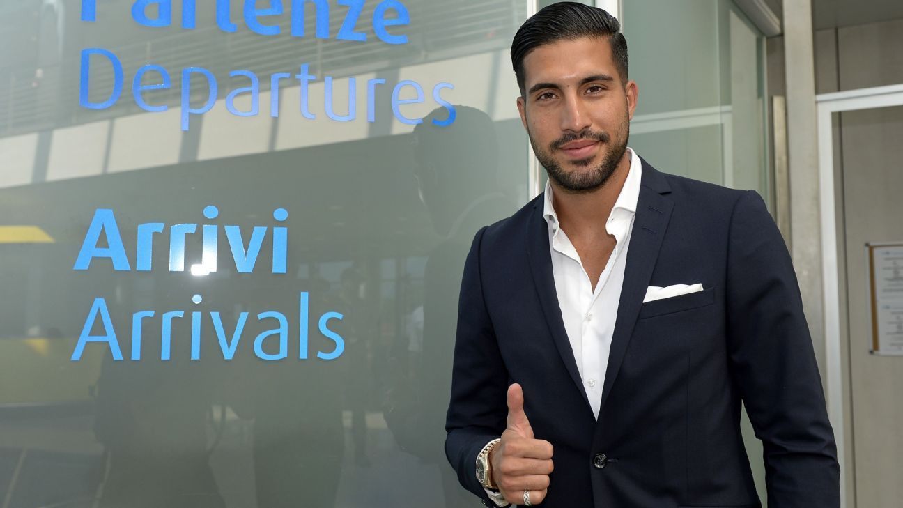 Liverpool's Emre Can arrives in Turin for his medical ahead of his proposed move to Juventus