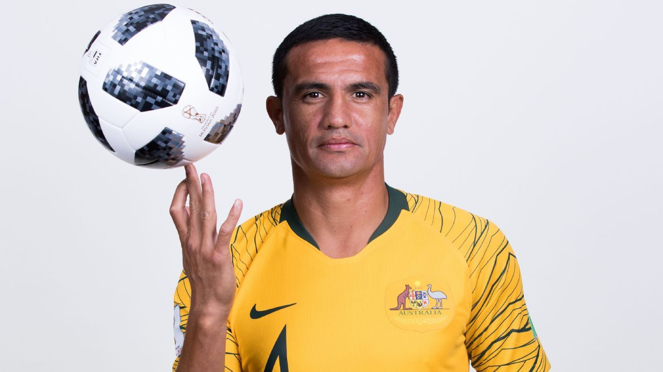 Tim Cahill was was named as part of an Australia squad at a World Cup for a fourth time in 2018
