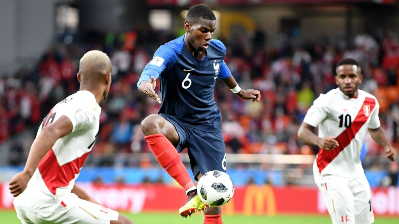 Paul Pogba stepped up his game to guide France to a key win over Peru.