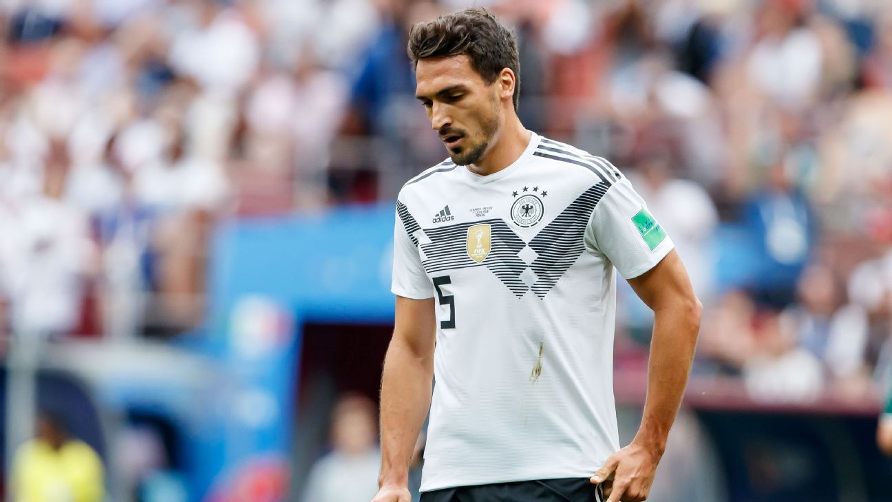 Mats Hummels was unable to help Germany slipping to defeat against Mexico.
