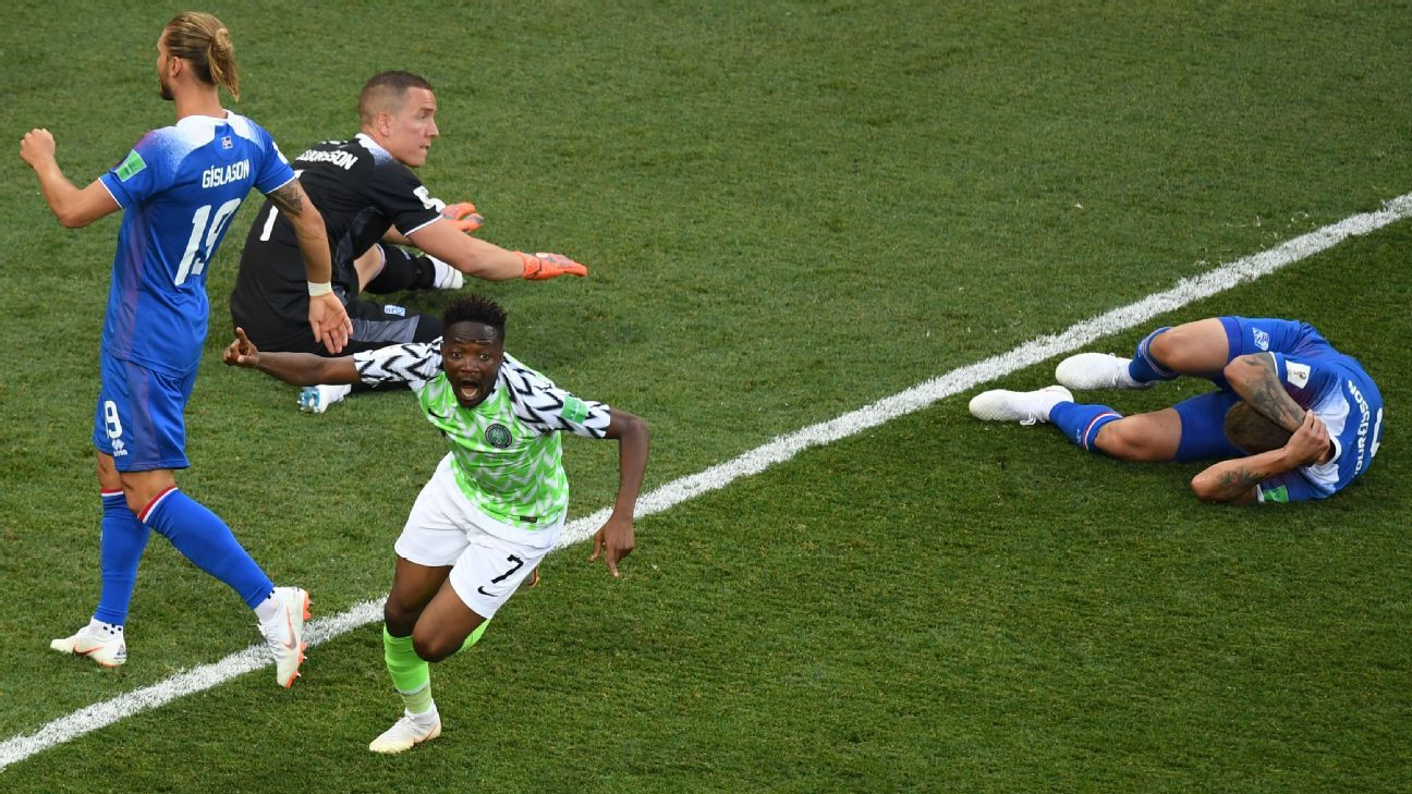 Ahmed Musa excelled as Nigeria beat Iceland in Volgograd.