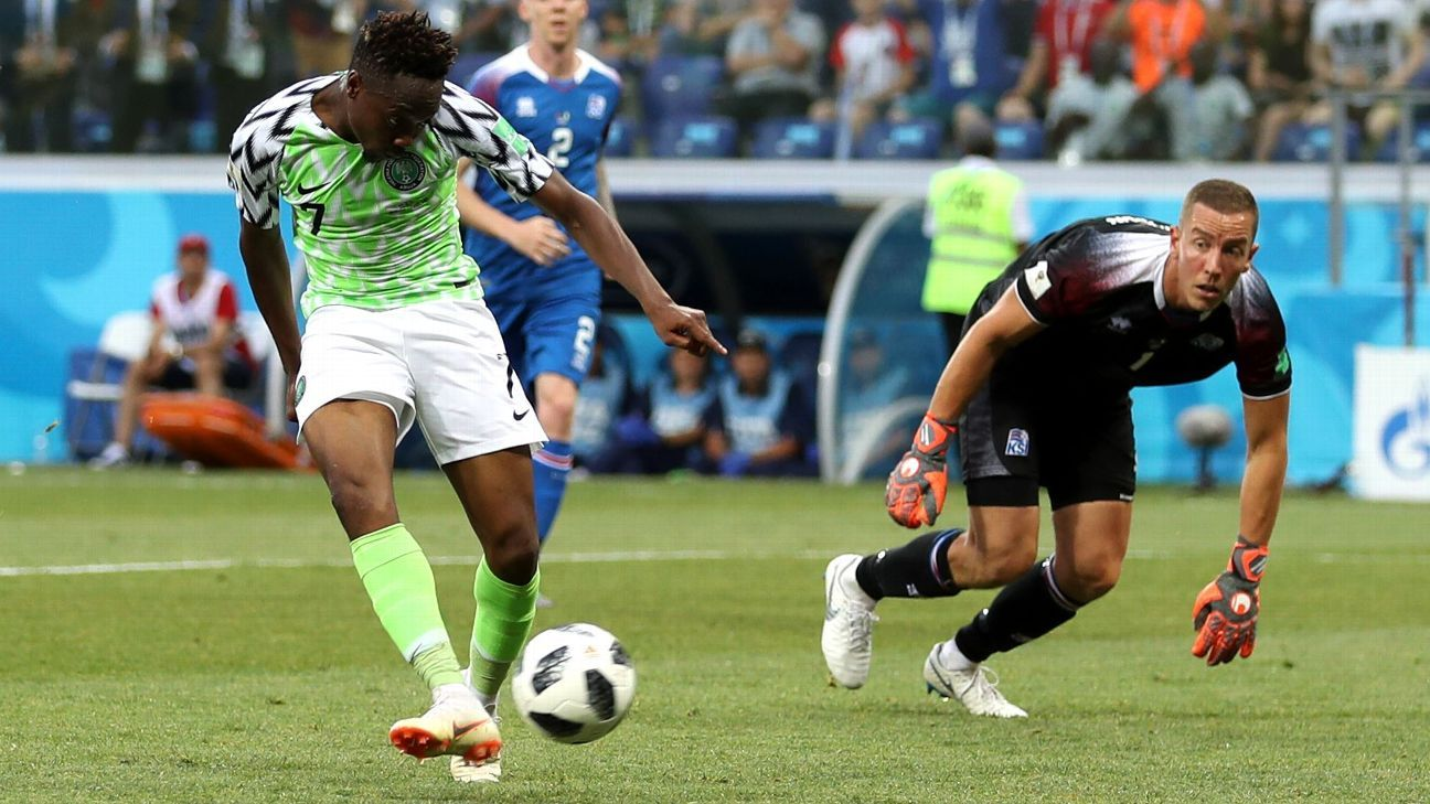 Ahmed Musa's two goals boost Nigeria to set up Argentina showdown