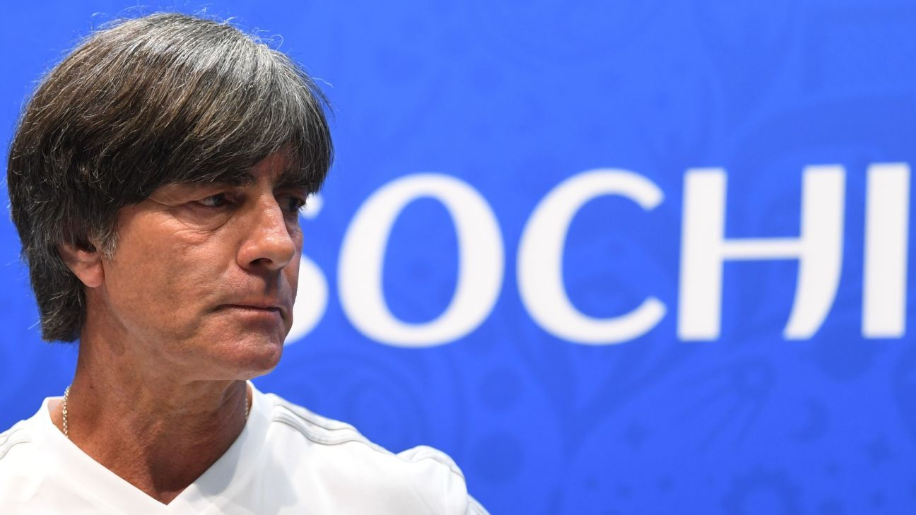 Joachim Low speaks to the media ahead of Germany's World Cup group-stage match vs. Sweden.