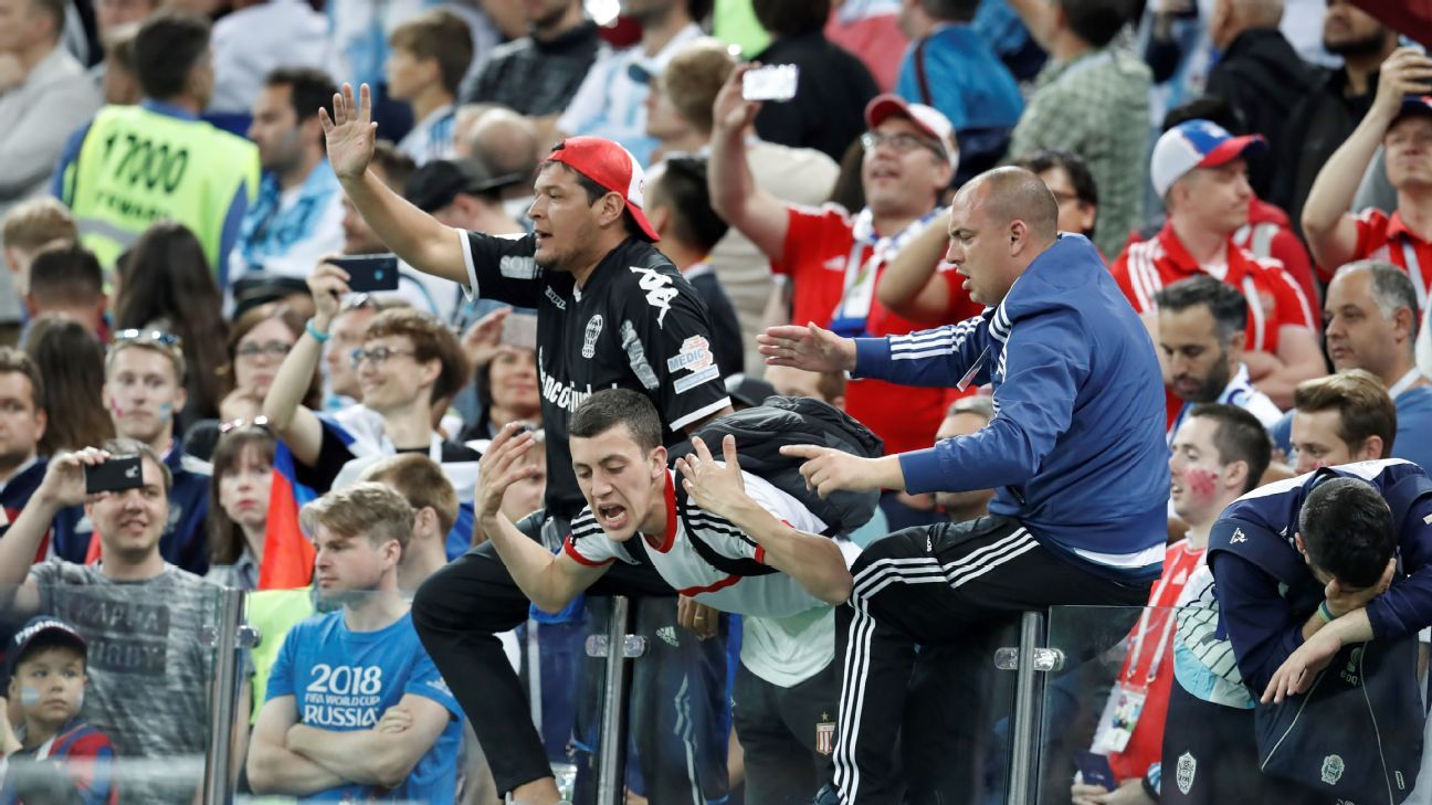 Fans at the Argentina-Croatia game.
