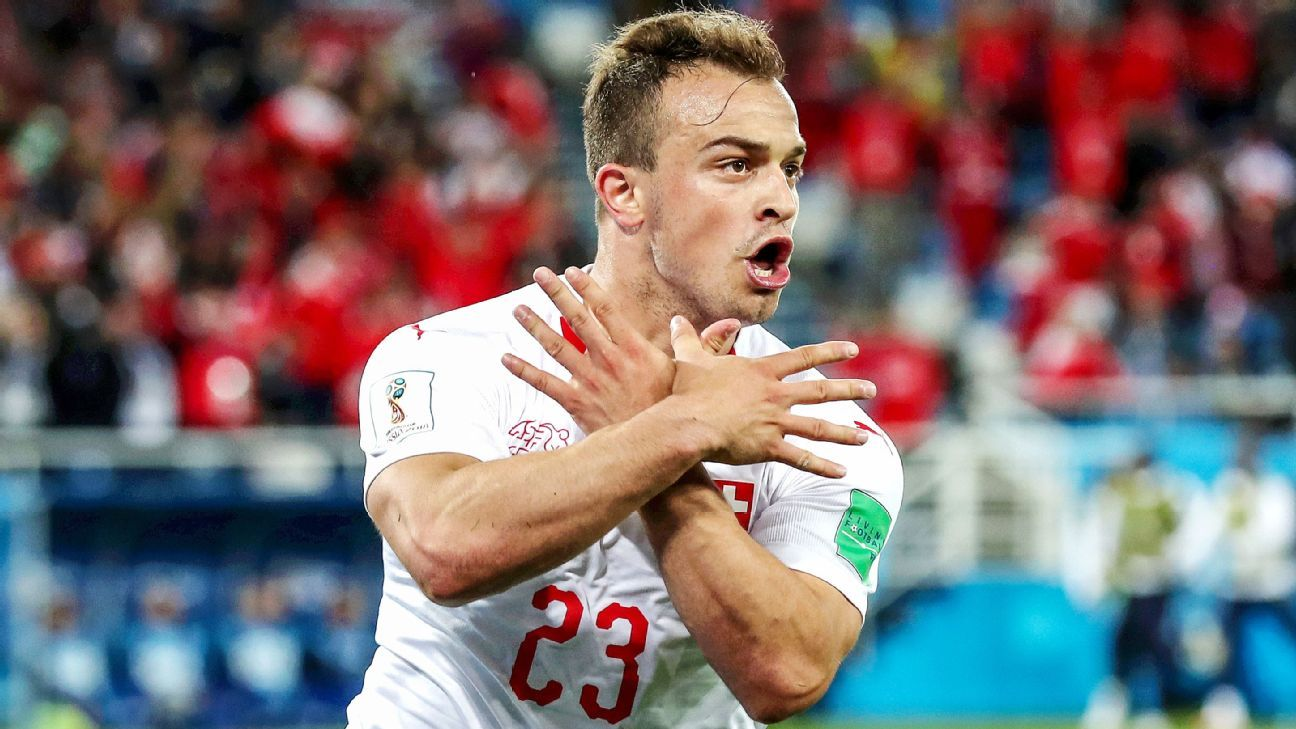 Xherdan Shaqiri's last-gasp winner for Switzerland over Serbia has thrown Group E wide open.