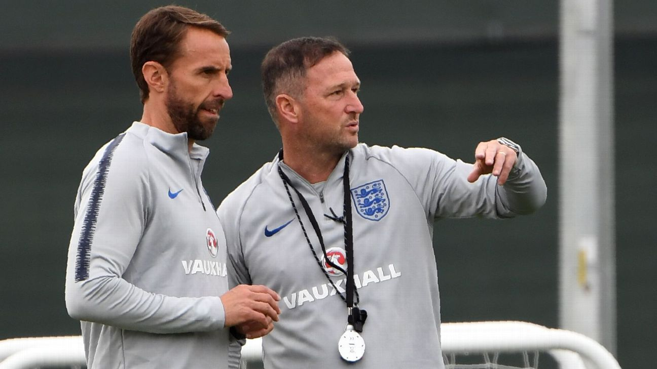 England manager Gareth Southgate's assistant Steve Holland accidentally revealed his notes to the media