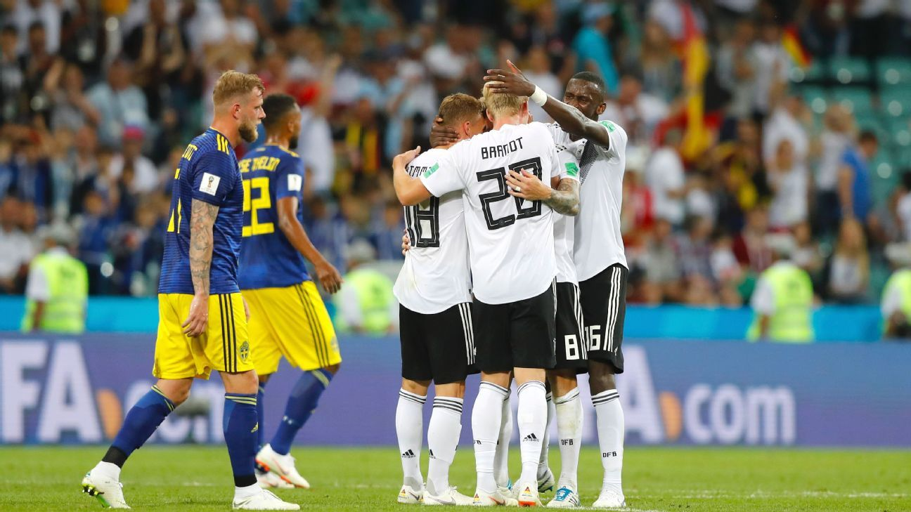 Tempers flared about Germany's celebration of Toni Kroos' stoppage-time winner in Germany's 2-1 World Cup Group F triumph on Saturday.