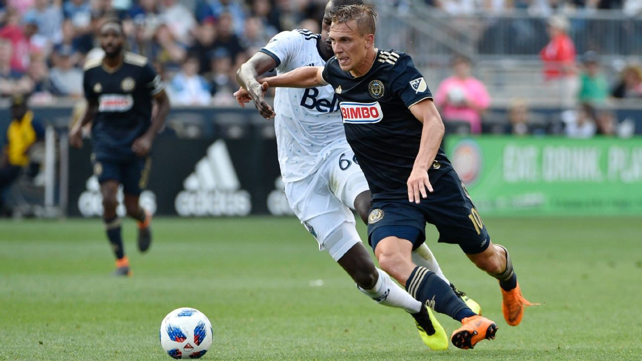 Borek Dockal's brace keyed a 4-0 rout of Vancouver by the Union.