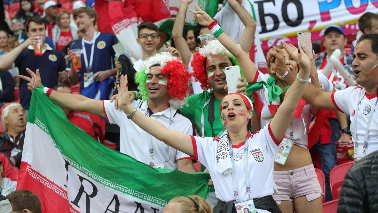 Iran fans enjoying the World Cup in Russia.
