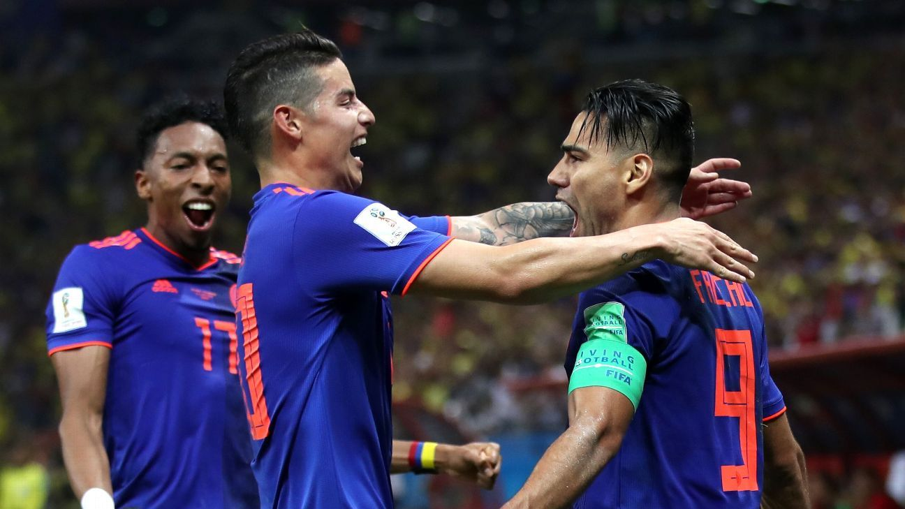 Starting their first World Cup game together, James Rodriguez and Radamel Falcao formed a dynamic duo.