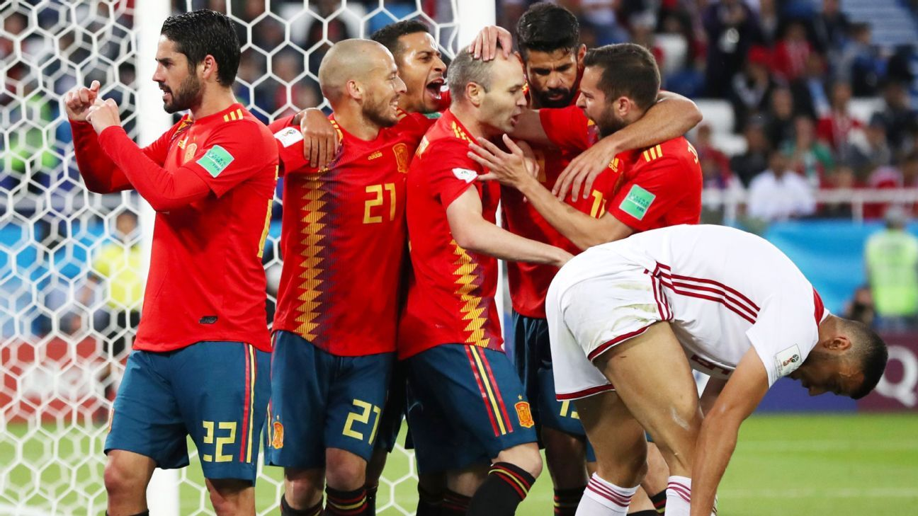 Spain have put their pre-tournament turmoil behind them to reach the World Cup knockouts.