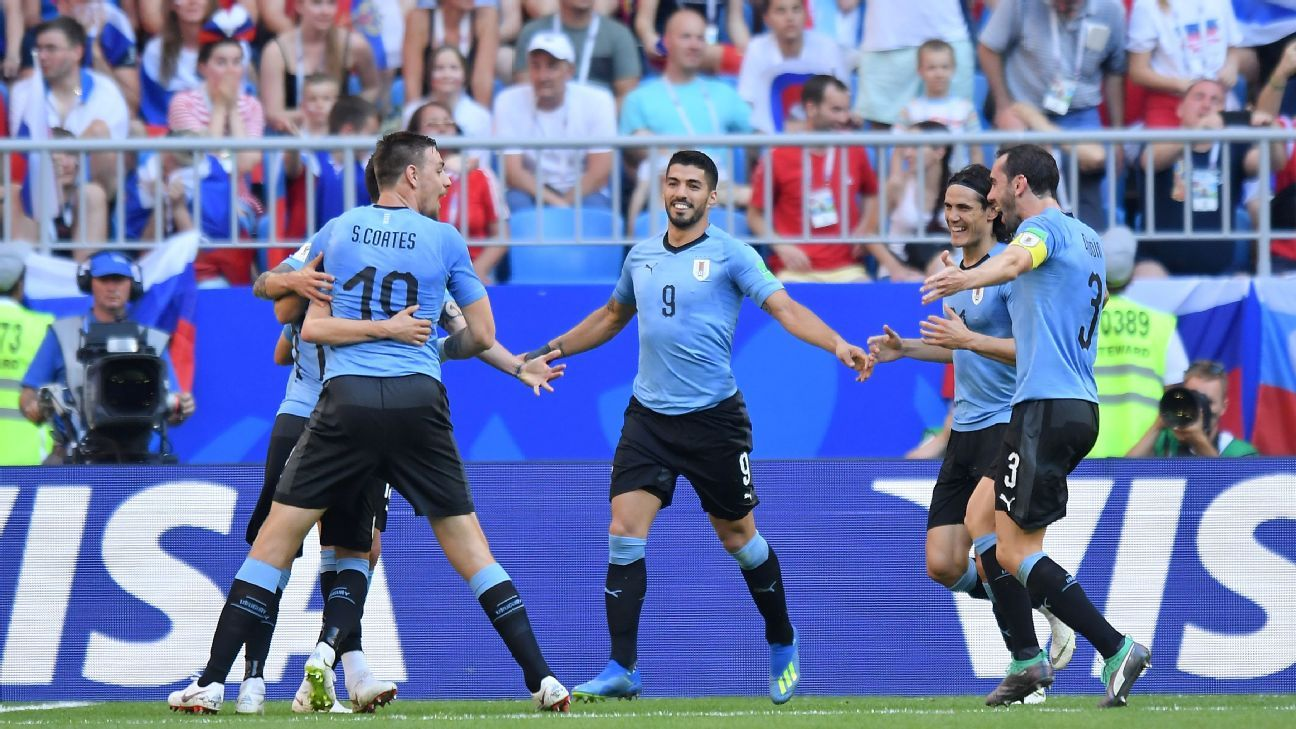 Uruguay's best performance of the group stage saw them overcome the World Cup hosts.