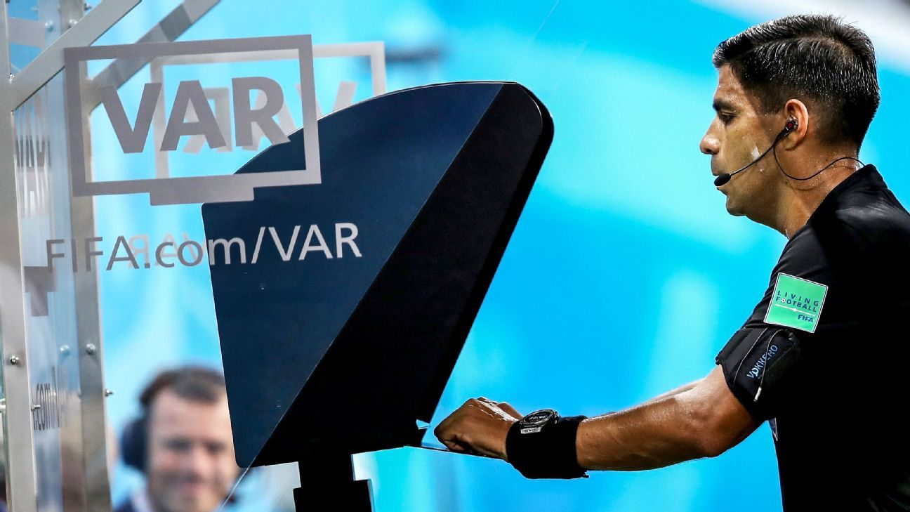 Enrique Caceres was a frequent VAR booth visitor and gave two penalties, while also opting not send off Cristiao Ronaldo.