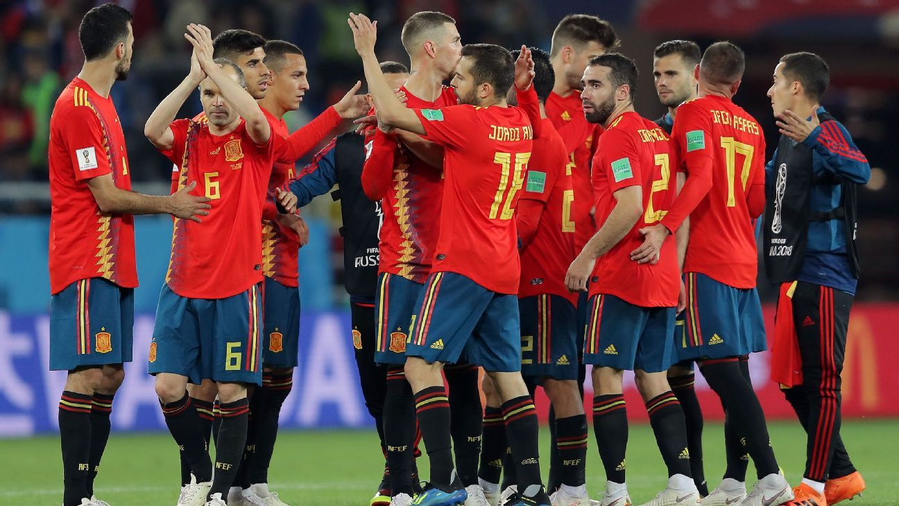 Spain's late equaliser against Morocco saw them confirmed as Group B winners.