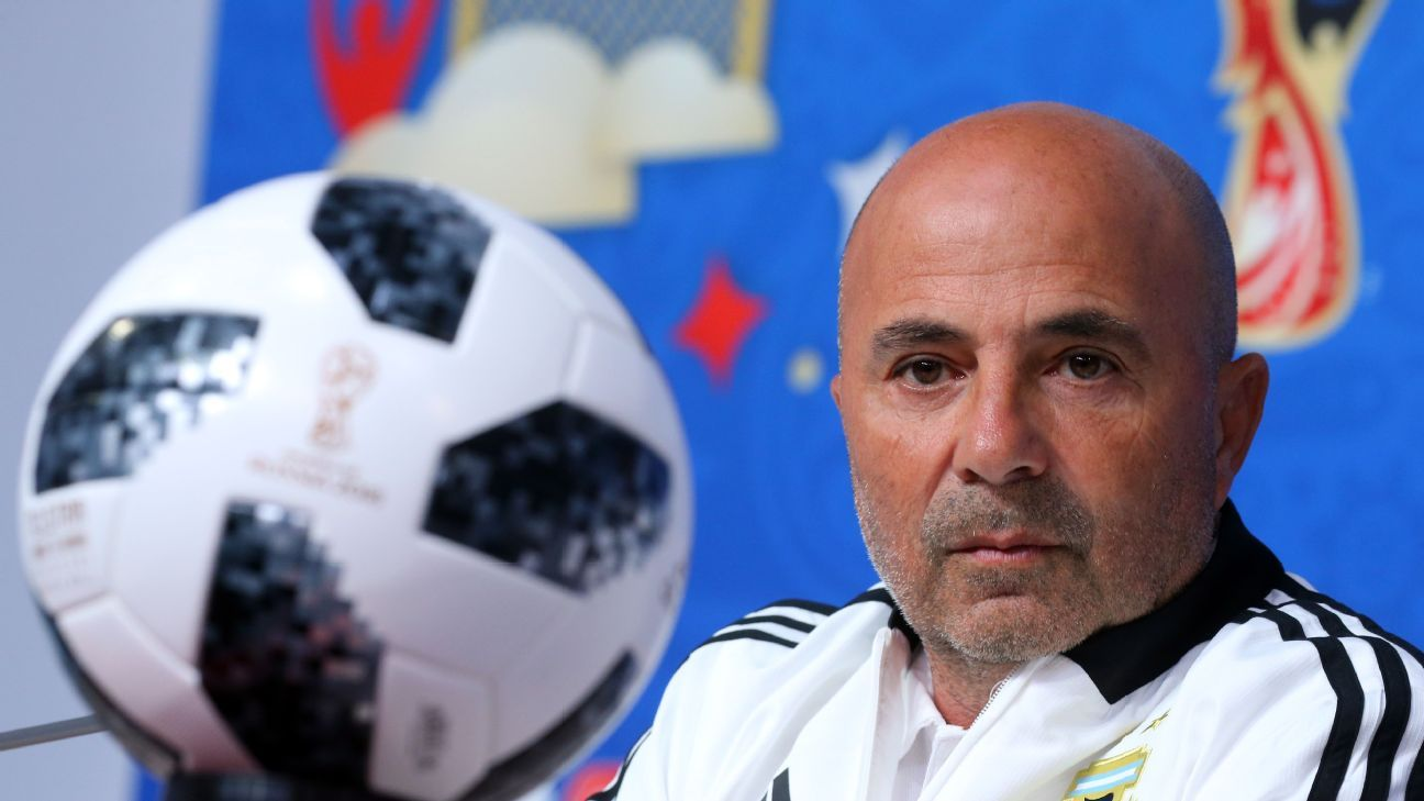 The pressure is on Jorge Sampaoli ahead of Argentina's final group game vs. Nigeria.