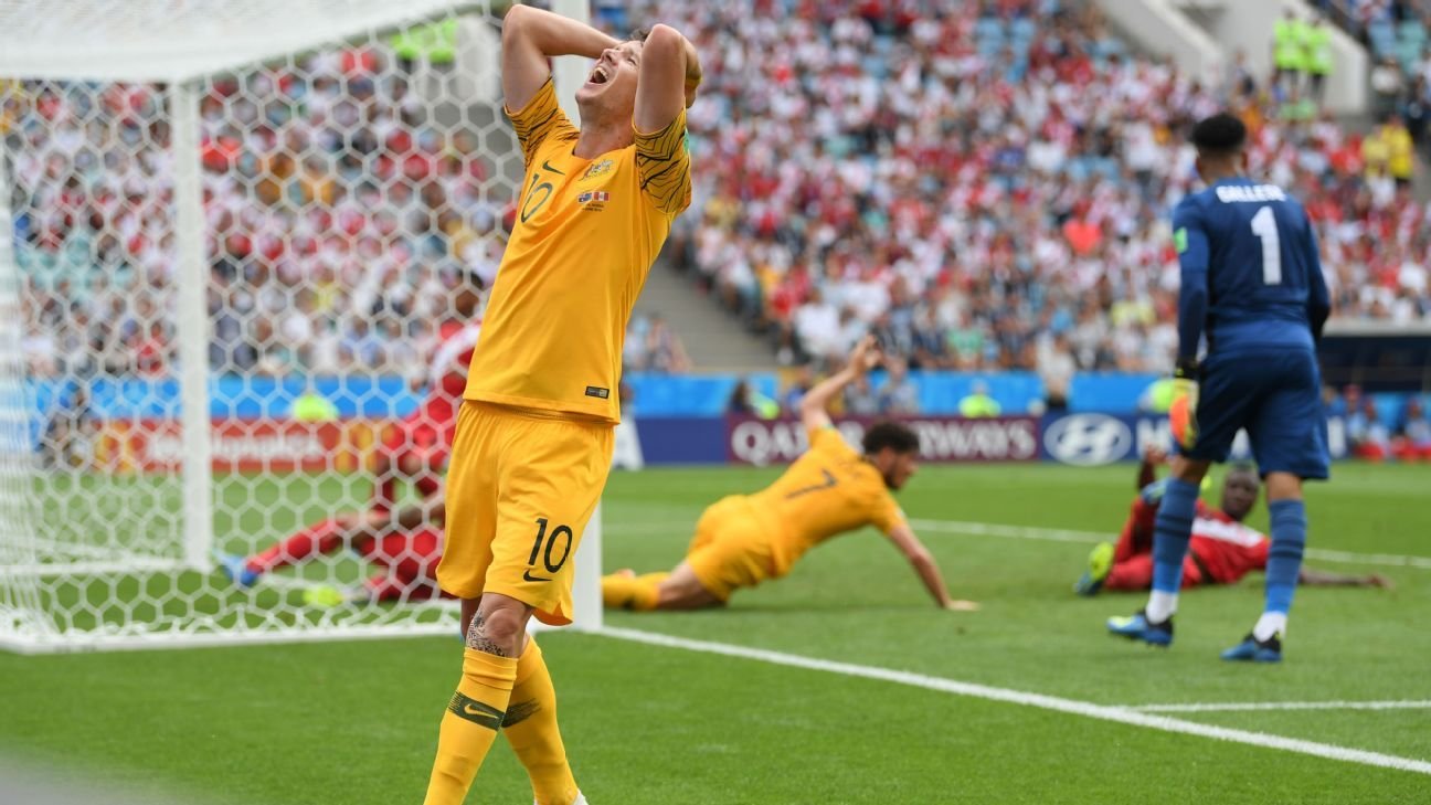 Robbie Kruse and Australia couldn't find a way past Peru when it mattered.