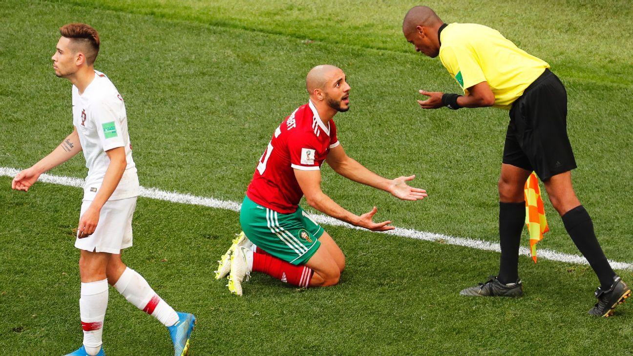 Nordin Amrabat of Morocco
