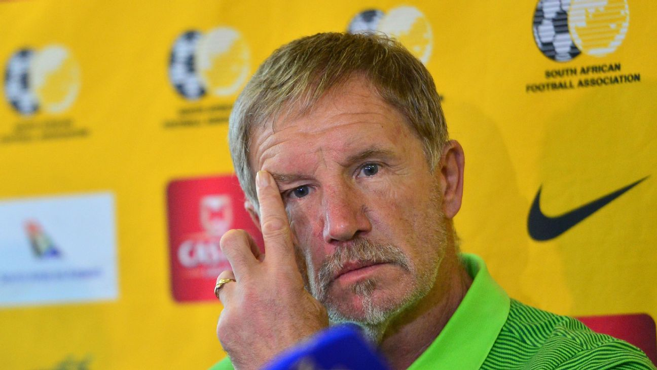 Is Stuart Baxter thinking that he's had enough of the Bafana Bafana coaching job?