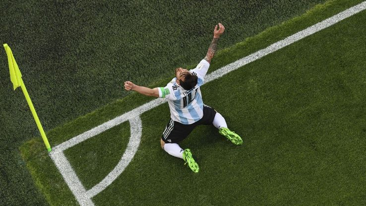 Argentina's Lionel Messi scored a stunning goal in their win over Nigeria.