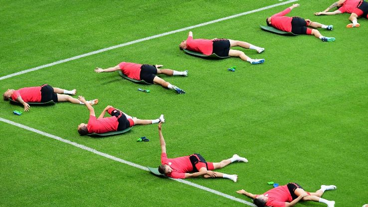 Poland players in training