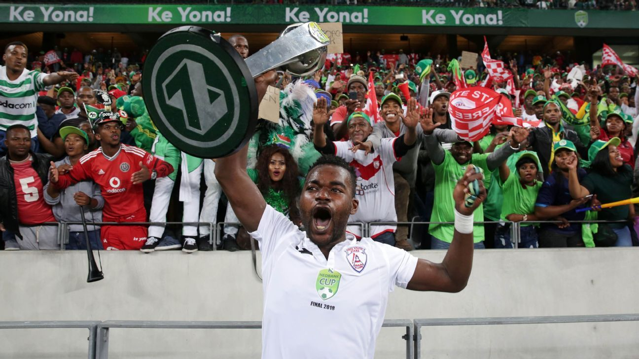 Ghanaian Mohammed Anas ended his stint at Free State Stars as a Nedbank Cup winner, but will now play for Polokwane City