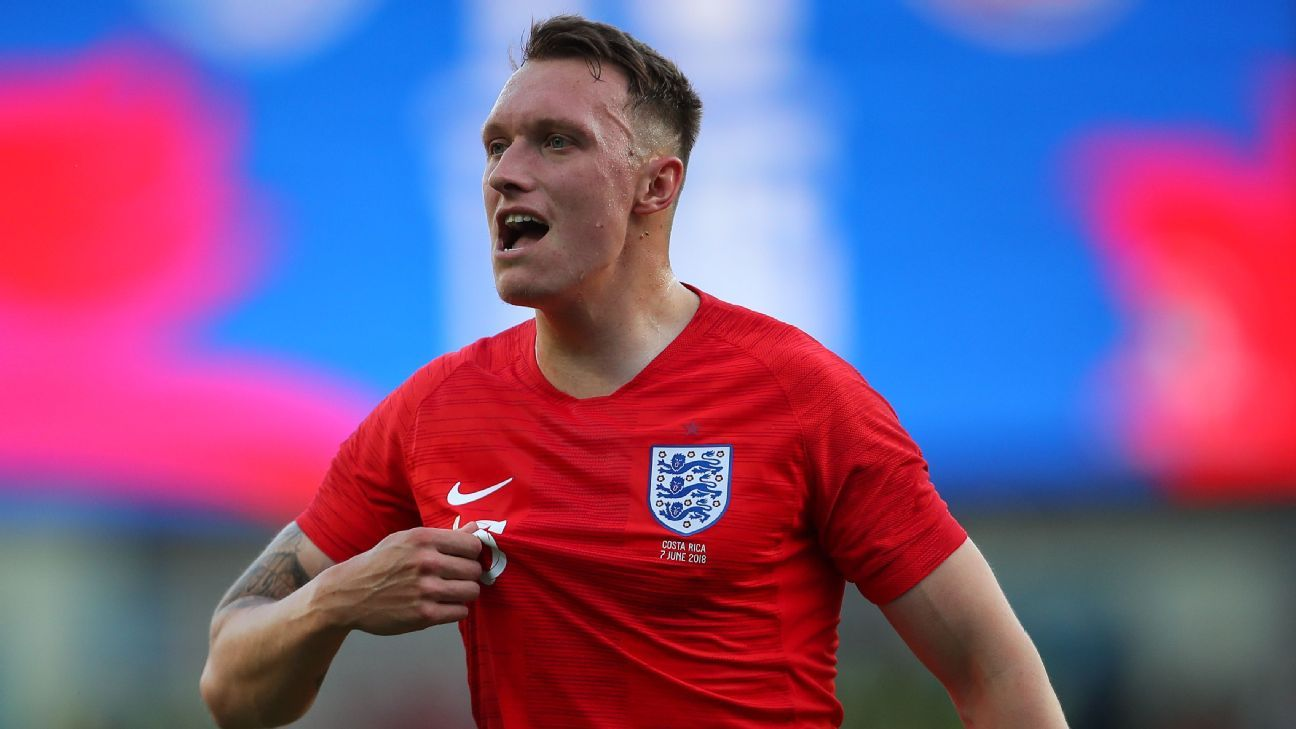 Phil Jones in action for England against Costa Rica.