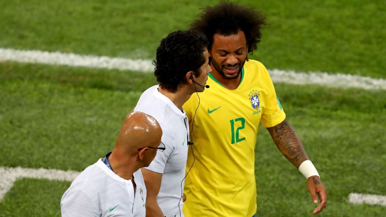 Brazil's Marcelo to return against Belgium as Miranda warns of tough test