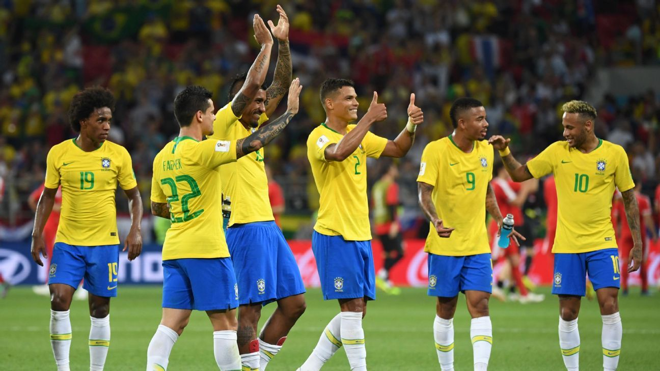 Brazil kicked up their collective game several notches in defeating Serbia as their road to a sixth World Cup looked clear from here.