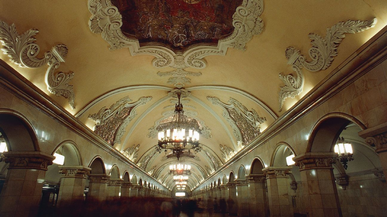 Moscow's Metro network is known for its ornate, beautiful artwork