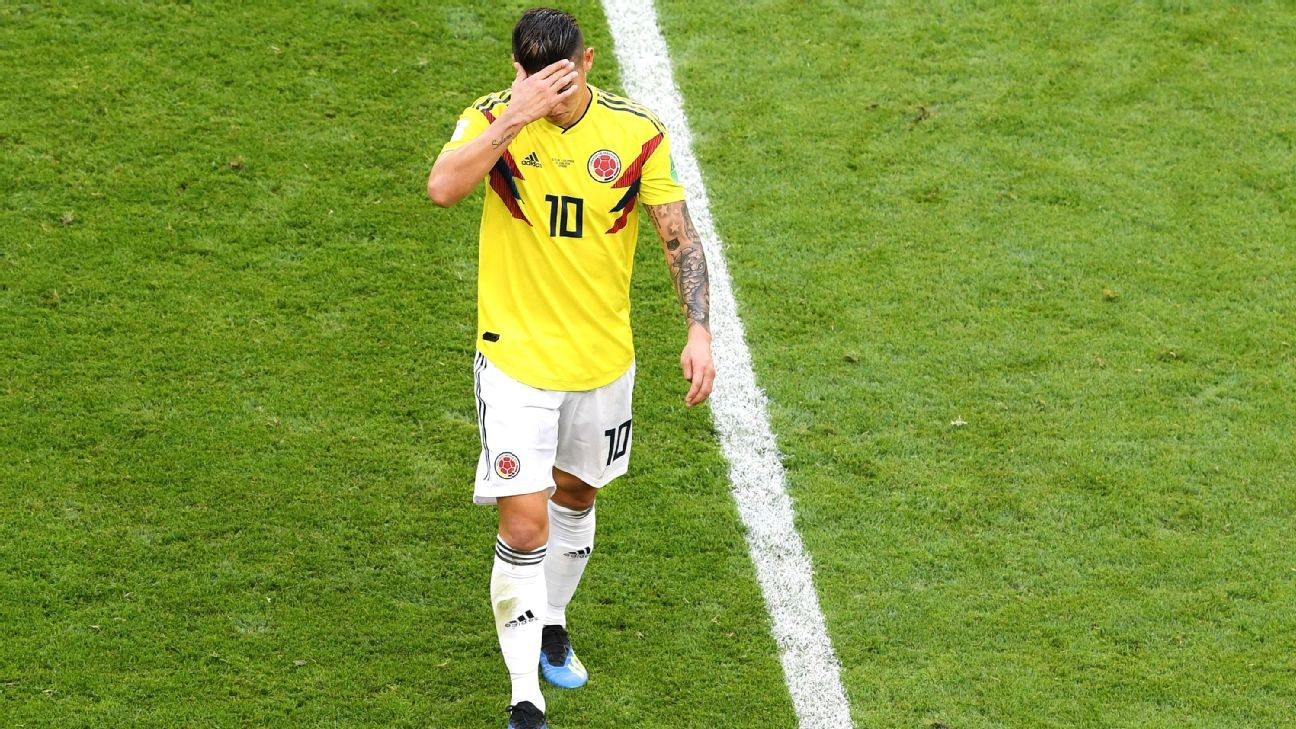James Rodriguez has endured a frustrating World Cup.