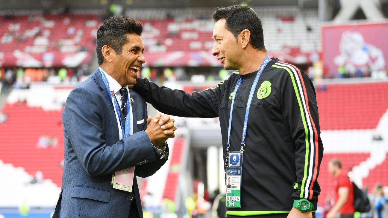 Mario Marin, right, made a vow to Mexico's players and stood by his bet when getting the El Tri tattoo before the World Cup.